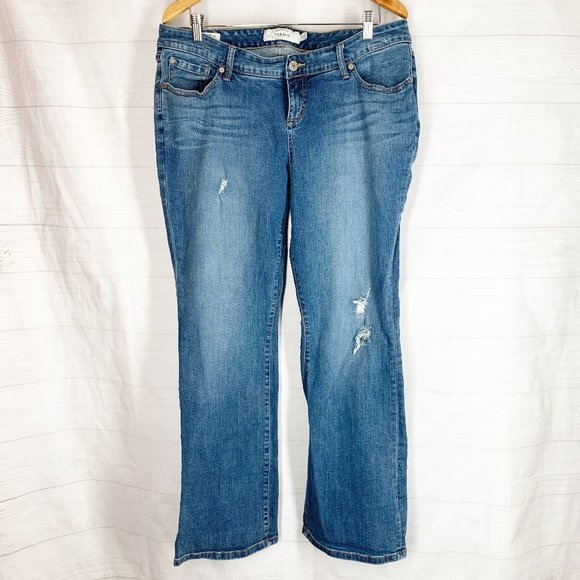 TORRID Jeans 14 Relaxed Boot Cut Boyfriend Distres